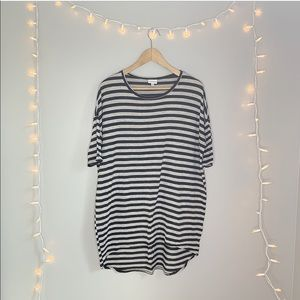 LuLaRoe Oversized Striped Tee